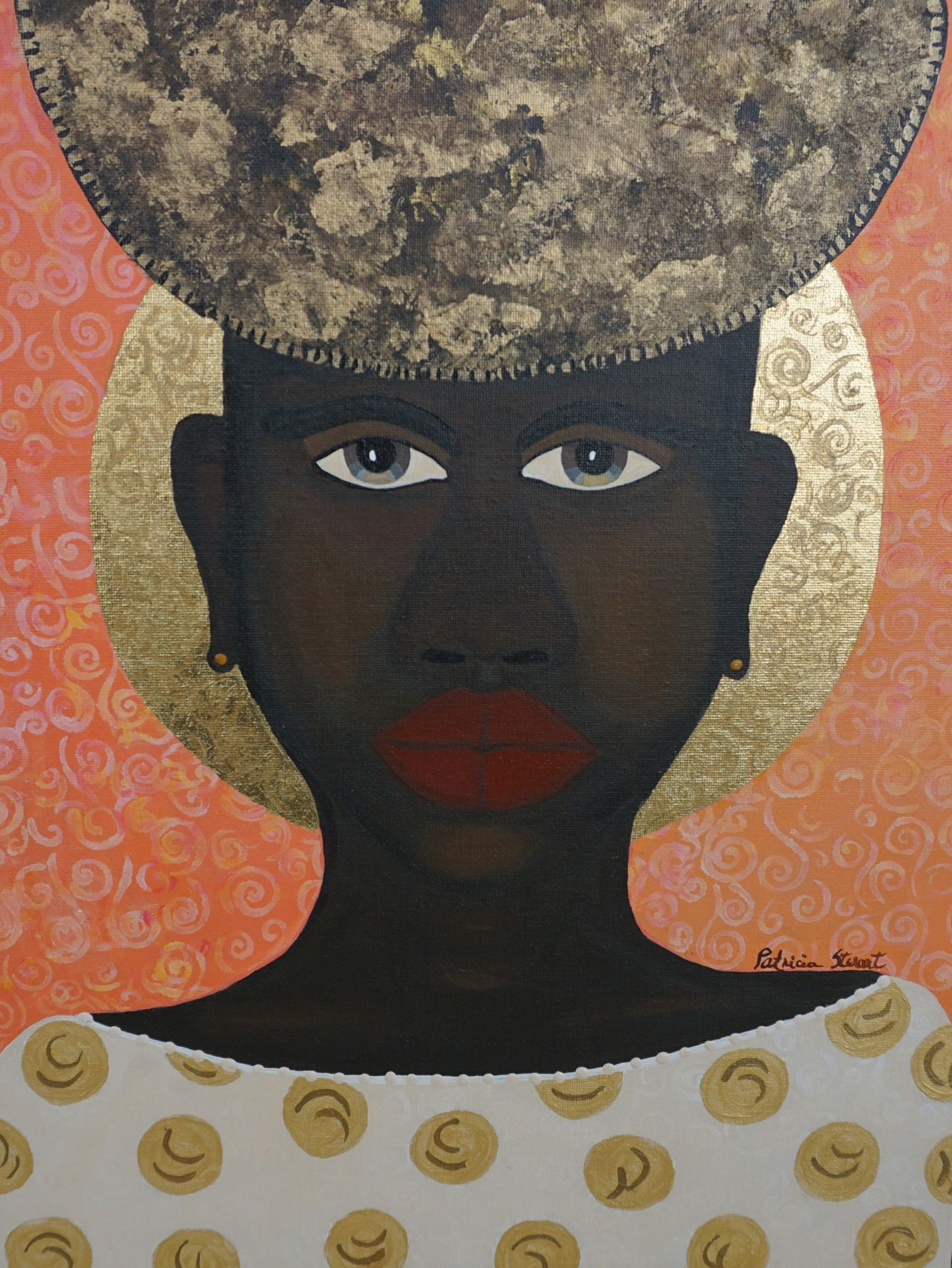 """Patricia Woods painting of woman's face """"CoCoa"""""""